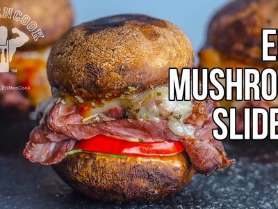 Epic Low Carb Mushroom Sliders. Sliders de Setas Bajo en Carbos