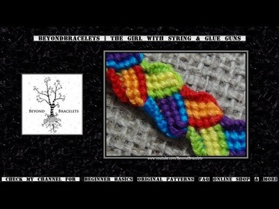 ► Friendship Bracelet Tutorial - Intermediate - Dragon Tail Braid