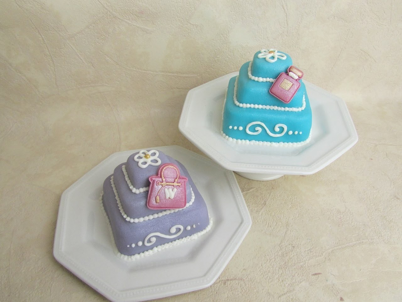 Glamour Mini Cakes (Handbag and Perfume) - Silikomart