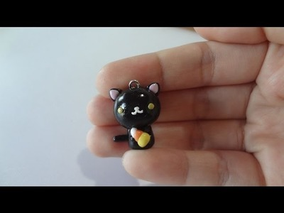 Halloween tutorial: Black Kitty with candy corn