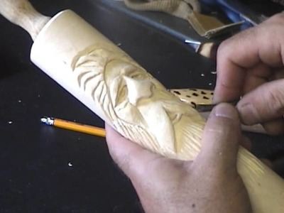 How To Carve a Wood Spirit on a Rolling Pin conclusion