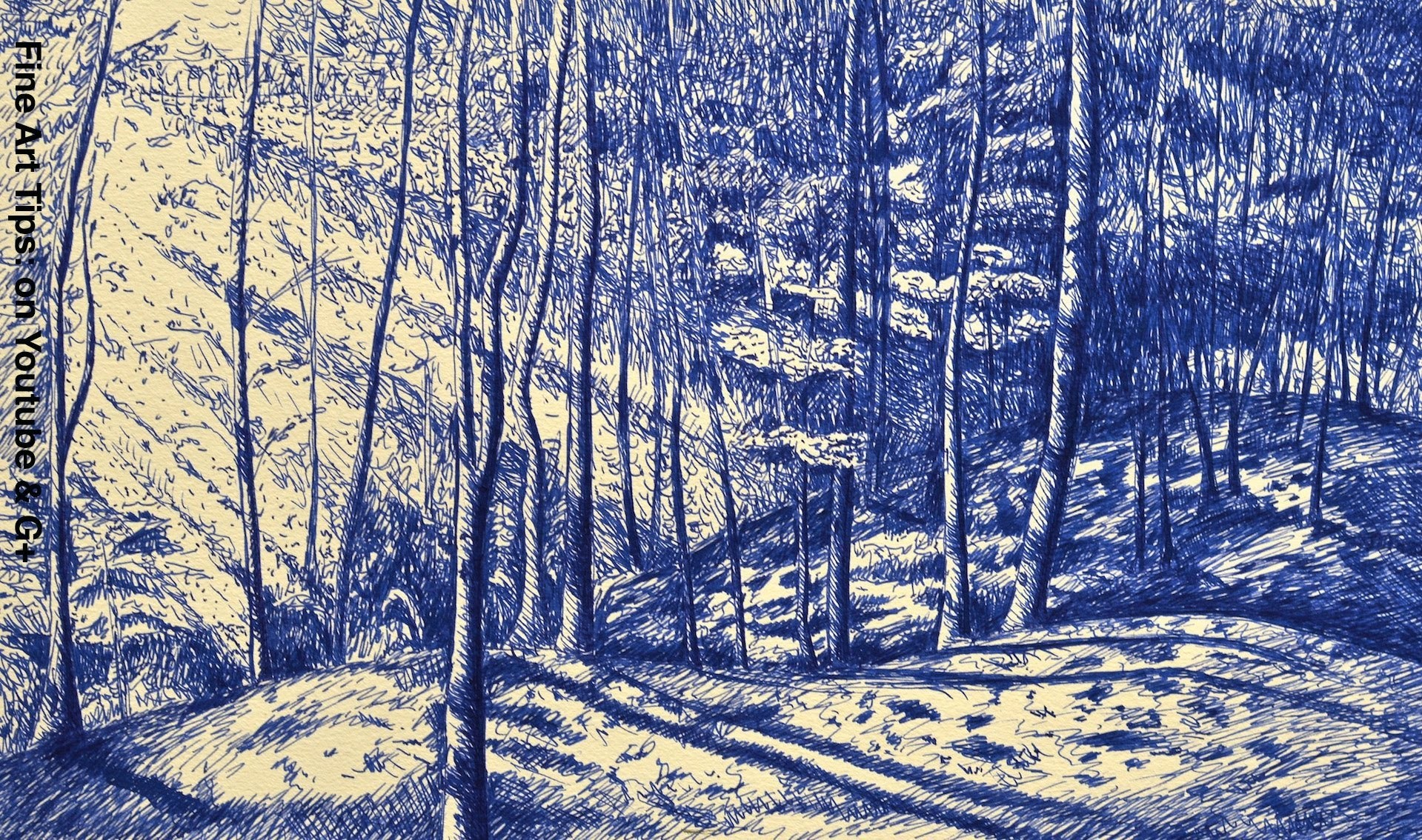 How to Draw a Forest With Fountain Pen