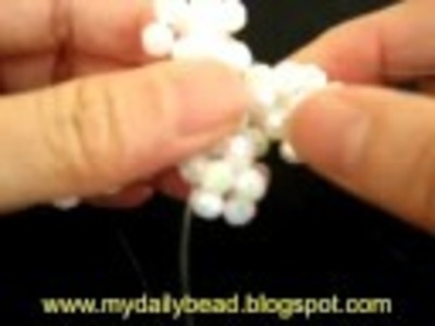 How to make a cross pendant with beads- part 2
