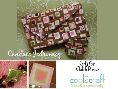 How to Make a No-Sew Fabric Clutch Purse by Candace Jedrowicz