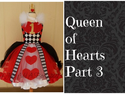 How to make a Queen of Hearts Tutu Dress by Just Add A Bow Part 3