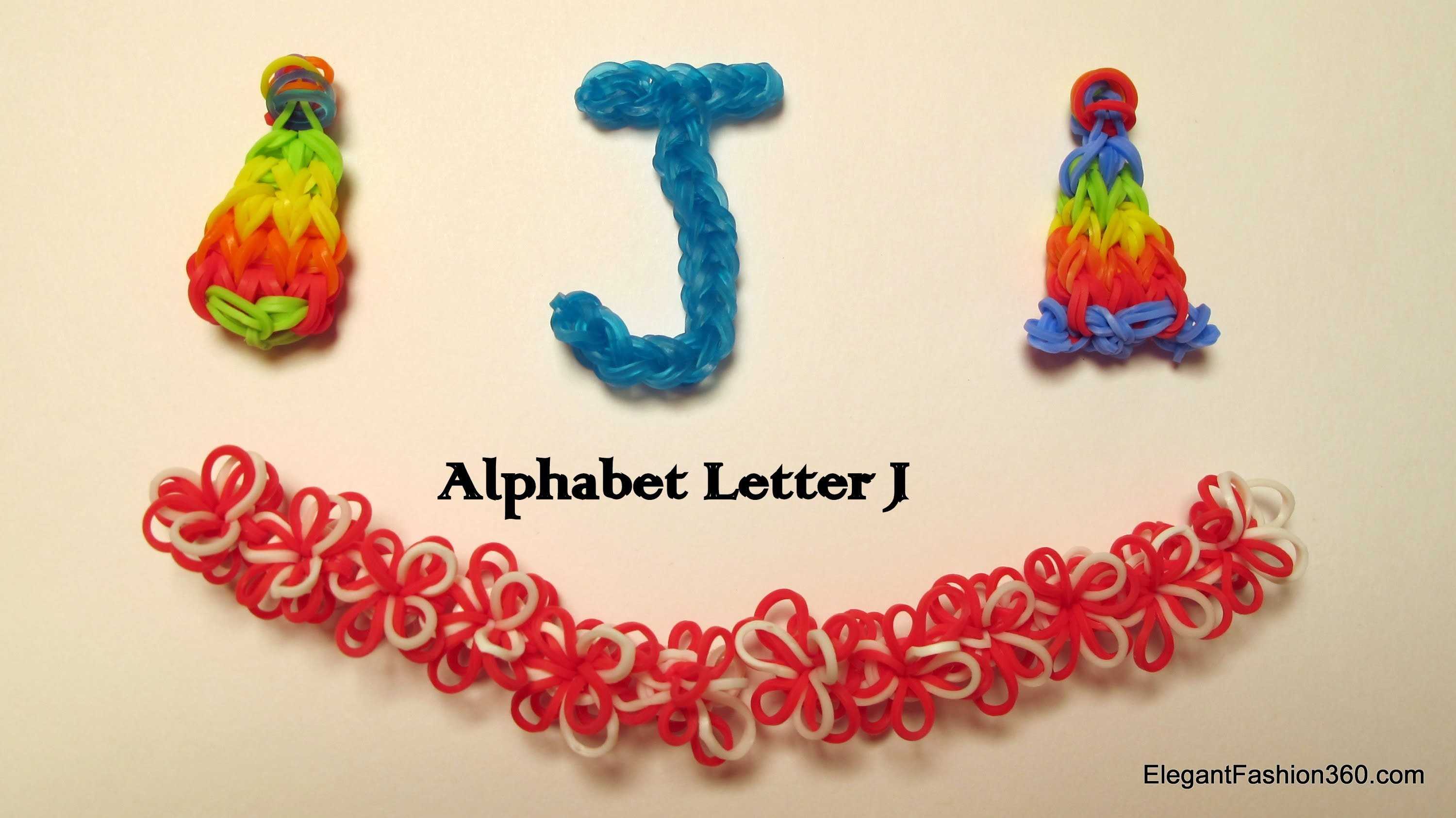 How to make alphabet letter J charm on rainbow loom