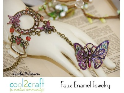 How to Make Faux Enamel Jewelry by Linda Peterson