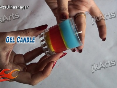 HOW TO: make Layered Gel Candle  - JK Arts 487
