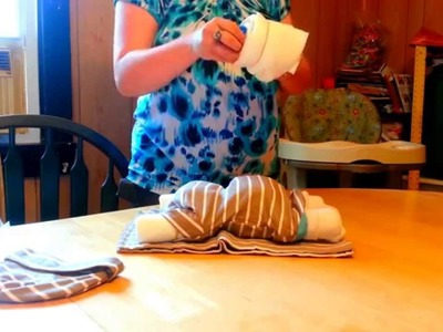 How to make Sleeping Diaper Baby Centerpiece