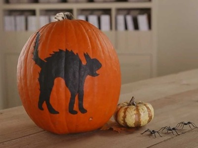 How to Paint a Halloween Pumpkin