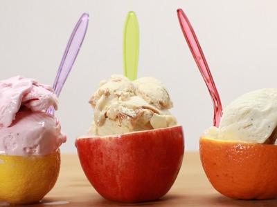 Ice Cream Fruit Bowls