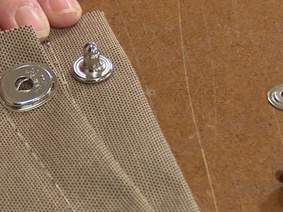 Installing the  Lift-The-Dot Eyelet Type Base Stud in Fabric