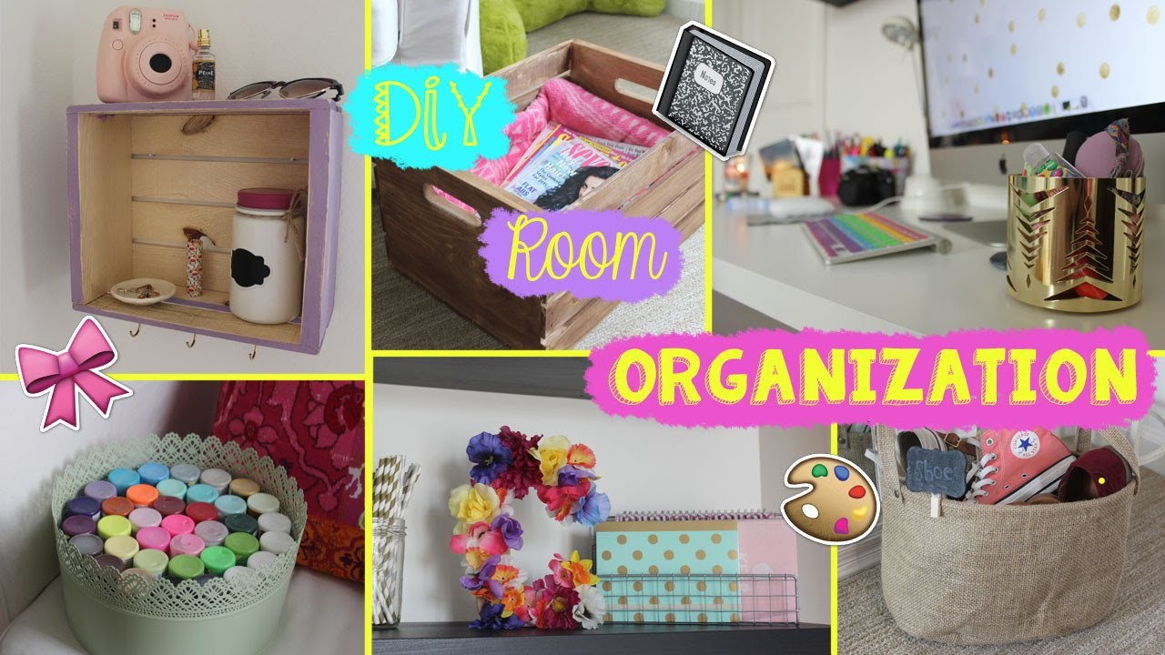 Let's Get Organized! DIY Room Organization & Room Decor!