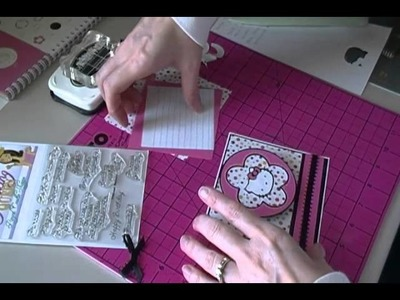 Making a Hello Kitty Birthday Card
