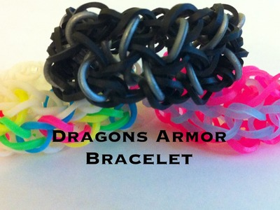 NEW Dragons Armor rainbow loom bracelet
