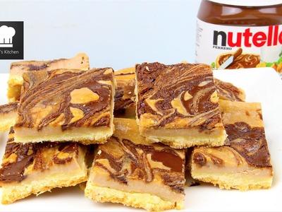 Nutella Cheesecake Bars