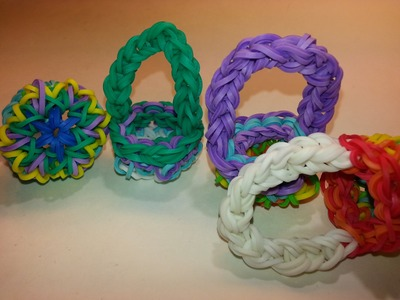 ONE LOOM Kaleidoscope Basket Tutorial by feelinspiffy (Rainbow Loom)