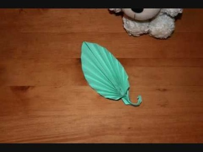 Origami leaf with bear- Stop Motion