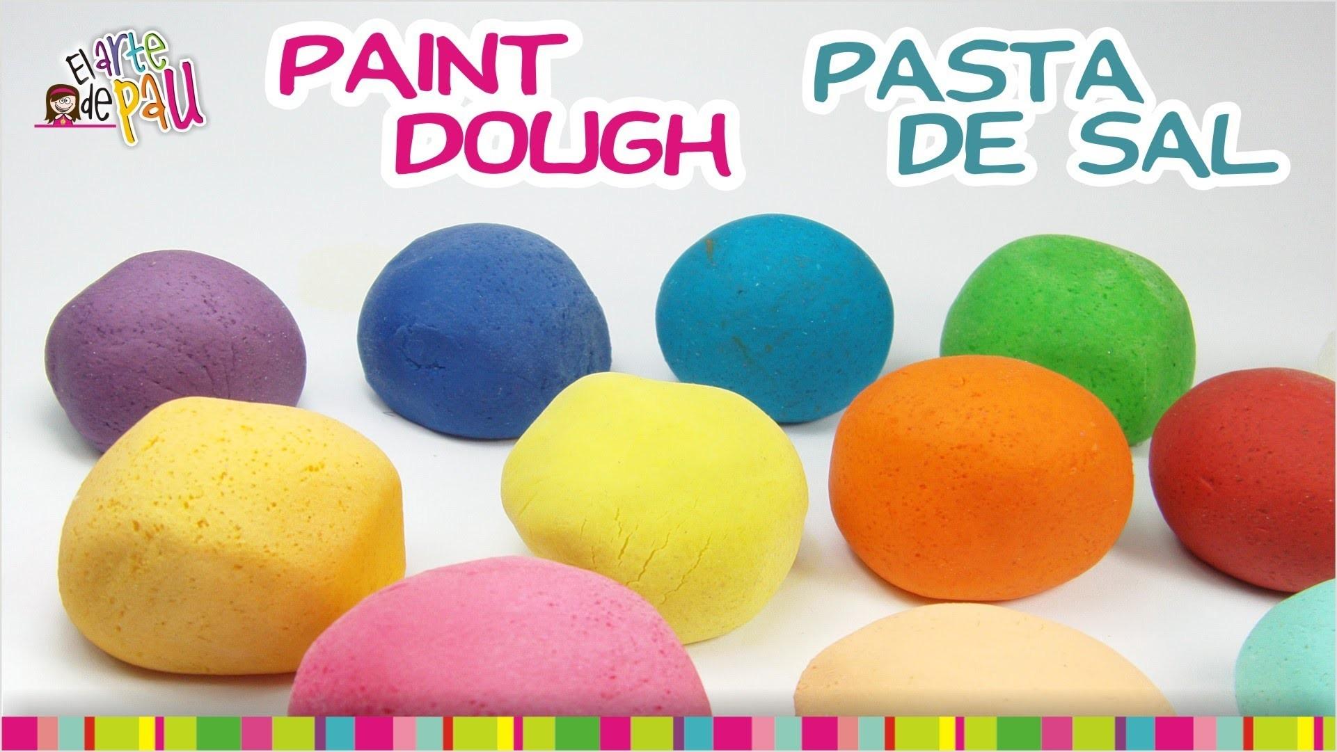 Painting Salt Dough. Pintando la masa de sal