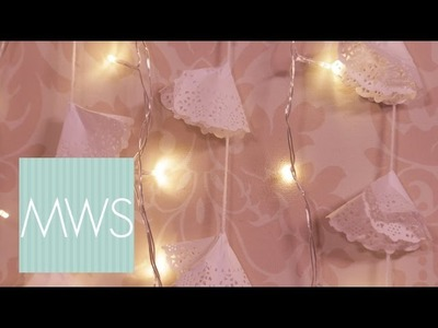 Paper Doily Wedding Garland | Maid at Home S4E1.8