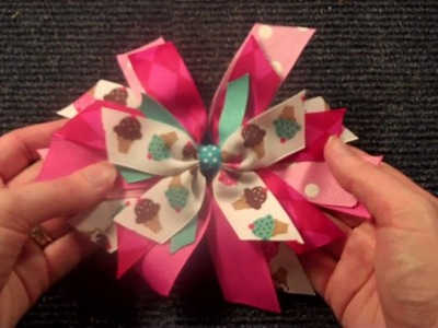 Pinwheel Style hairbow tutorial V.2 (hair bow instructions.tutorial)