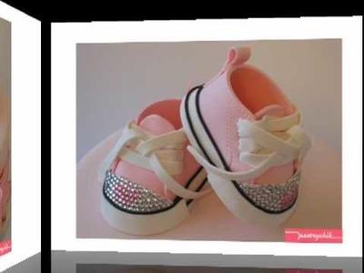 Posh Princess Baby Shoe Fondant Cake