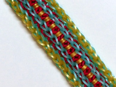 "Rainbow Loom Bracelet ""MAI LING"" (Original Design) (ref #4ww)"