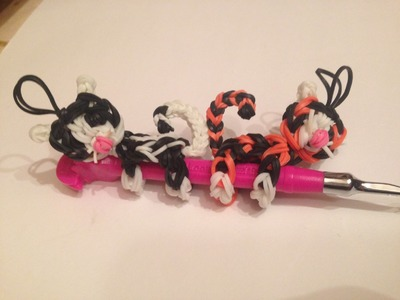 Rainbow Loom Cat.Tiger pencil hugger