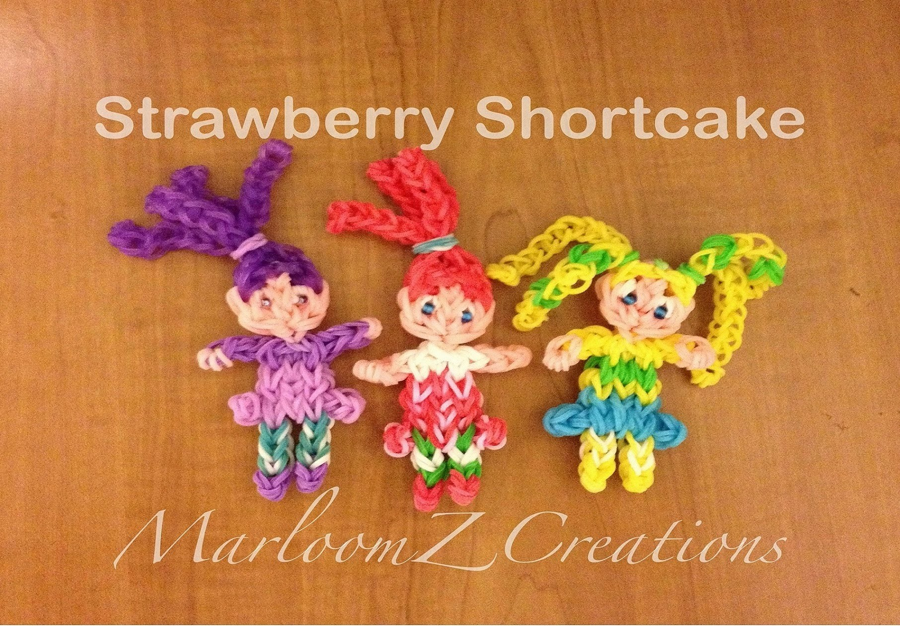 Rainbow Loom Strawberry Shortcake