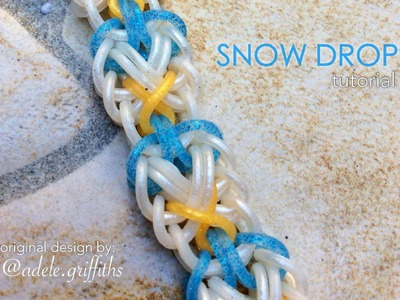 SNOW DROP Hook Only bracelet tutorial