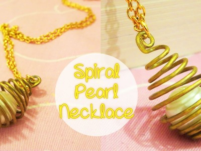 Spiral Pearl Necklace charm DIY | Sunny DIY