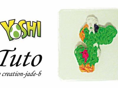Tuto Rainbow Loom - Mural sans fond Yoshi (Mario) !