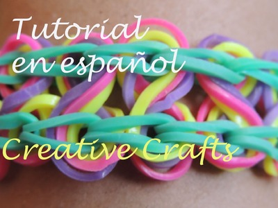 Tutorial Pulsera de gomitas Rainbow Loom Taffy Twist en español