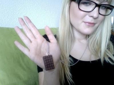Tutoriel FIMO : Plaque de chocolat + Tenue du jour