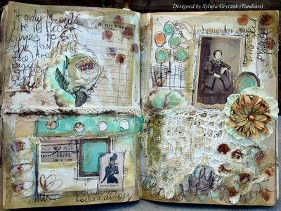 Vintage art journal page tutorial