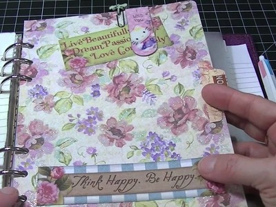 What I use my A5 Raspberry Finsbury Filofax for. .
