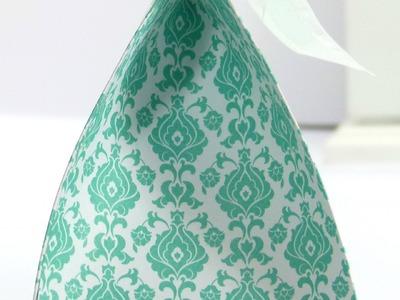 Wide Fat Bag using Stampin' Up! UK Eastern Elegance DSP