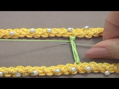 Wrapped Bridge.Bar Needle Work Tutorial 50 Part 9 of 9 Romanian Point Lace