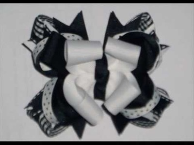 You Can Learn How to Make These Girls Hair Bows by www.LearnHowToMakeBows.com