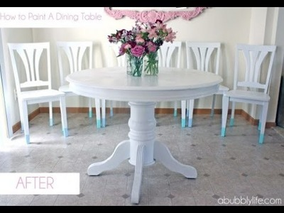 14 Cool DIY Dining Table Makeovers