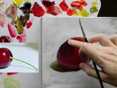 Beginners Acrylic Still Life Painting Techniques demo - Part 4 of 4