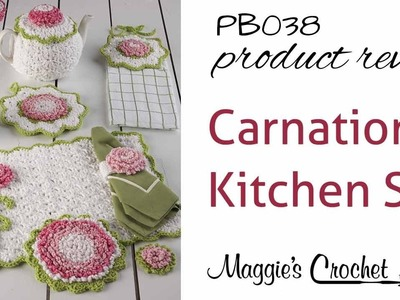 Carnation Kitchen Set Crochet Pattern Product Review PB038