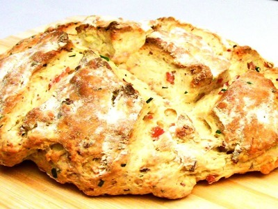 Cheese, Bacon And Chives Damper Bread Recipe