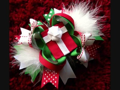 !!!CLOSED!!! Christmas Hair Bow Giveaway by Just Add A Bow