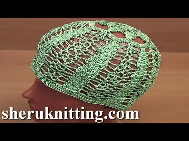 Crochet Summer Lace Hat Tutorial 57 Part 1 of 2