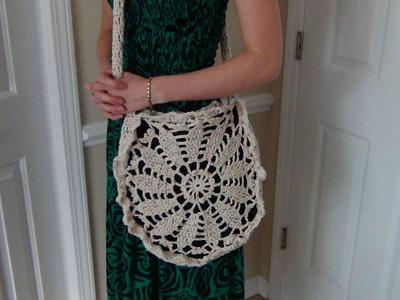 Crocheted Cotton Bag Part 1