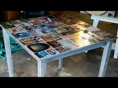 D.I.Y Decoupage Dining Table