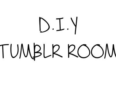 D.I.Y Tumblr Room ♥