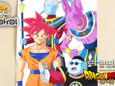 Dibujando Dragon Ball Z La Batalla de los Dioses | Neokoi Comics