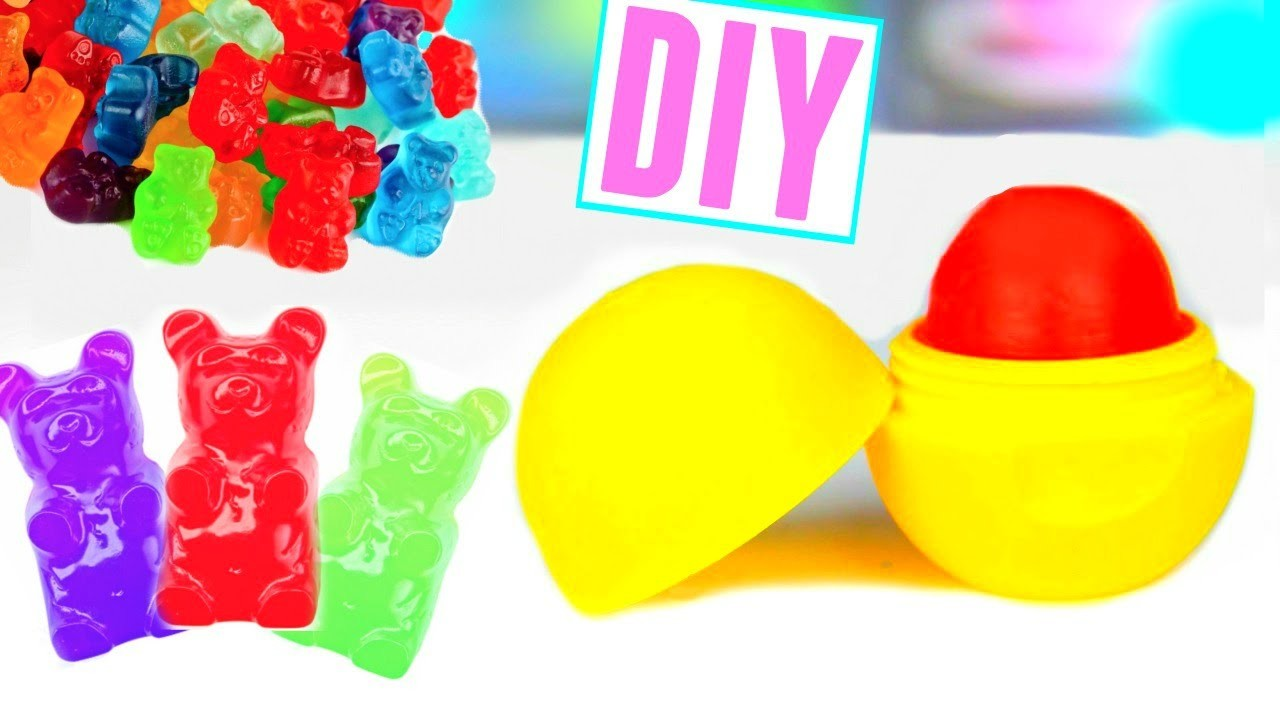 DIY EOS out of GUMMY BEARS! Make Lip Balm Out Of Candy!